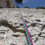 Multi pitch climbing route in the Calanques