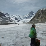 Glacier hike in the Mont Blanc Massif (Haute-Savoie)