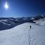 First ski touring tracks in Oisans (Isère)