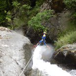 Canyoning in the Canigou massif (Eastern Pyrénées)