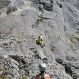 Group climbing in the Vercors Massif (Isère)