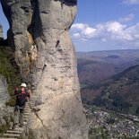 """Rochefort"" via ferrata  in Florac (Lozère)"