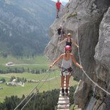 The via ferrata of Aravis (Haute-Savoie)