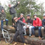 Mountain bike enduro of Haut-Folin (Morvan, Burgundy)