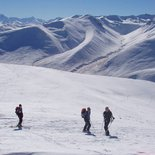 Ski touring in the Mount Cook Park