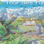 Fiz tour from Chamonix, between Giffre and Mont Blanc
