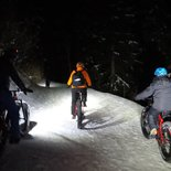 Electric fatbike night ride in Chamrousse (Belledonne, Isère)
