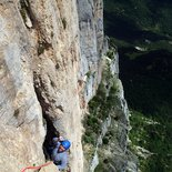 Rock climbing multi pitch route in Charteuse, Vercors, Diois or Écrins