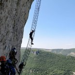 Boffi via ferrata in Millau (Aveyron)