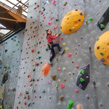 Private indoor rock climbing course in Grenoble