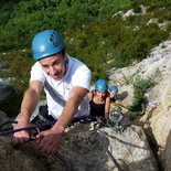"""La Guinguette"" via ferrata in Hostiaz (Ain)"