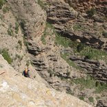 Multi pitch climbing route in Riglos and Peña Rueba