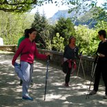 Nordic walking session around Annecy (Haute-Savoie)