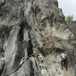 Yoga and rock climbing in Aosta Valley