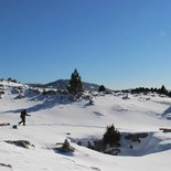 Snowshoe trek in the Vercors in autonomy