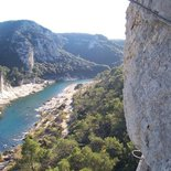 "Via ferrata ""Les Gorges du Gardon"" in Collias (Gard)"